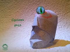 02_Cyclops-Olmec Cyclops gaze (Mark Lch) Tags: origami cyclops head paper marble