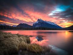 Sunrise at Mt Rundle (leomacdonald) Tags: canada sunrise alberta banff mountrundle vermilionlakes brilliant ngc