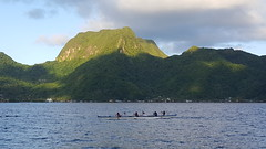 Canoeing in Pago Pago Harbor
