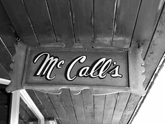 Downtown Edmond, Oklahoma (kevinellison62) Tags: blackwhite signs edmond oklahoma mccalls