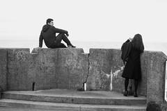 pose for me (byronv2) Tags: edinburgh edimbourg portobello sea seaside shore beach scotland northsea coast coastal rnbforth firthofforth firth forth river riverforth street candid peoplewatching blackandwhite blackwhite bw monochrome