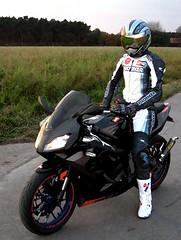 aprilia driver (driver Photographer) Tags:   aprilia cagiva honda kawasaki husqvarna ktm simson suzuki yamaha ducati daytona buell motoguzzi triumph bmv driver motorcycle leathers dainese