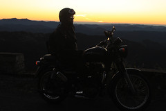 Royal Enfield rider silhouette (azara ralte) Tags: silhouette bike royalenfield bulletbike hmuifangtlang mizoram northeastindia tlai evening traveller hmuifang eveningscene biker mizo