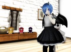 Gothic Bori (littlerowan) Tags: secondlife egl lolita casuallolita gothiclolita catgirl batwings bacpack petticoat pannier stockings