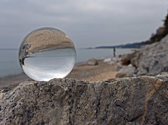 A Walk on the Beach (smiles7) Tags: lakemichigan rocks crystalball november walkonthebeach