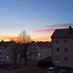 Sun set in Växjö