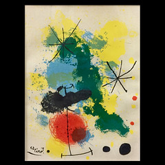 "ART:  Miro lithograph ""New Era"" 29 of 172."