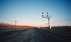 SP signal on the west side of Beaumont Pass between El Casco and West Palm Springs, California in February 1981 -- 6 Photos (railfan 44) Tags: southernpacific