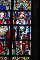 A crusader in stained glass (quinet) Tags: 2014 belgium bruges glasmalerei stainedglass vitrail antwerp flanders