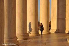 Stalked By Shadows (Trish Mayo) Tags: jeffersonmemorial columns architecture shadow noncoloursincolour washington dc