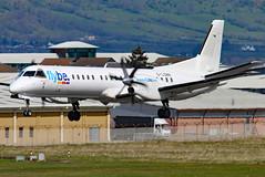 G-LGNR (GH@BHD) Tags: glgnr saab saab2000 log loganair be bee flybe bhd egac belfastcityairport airliner aircraft aviation turboprop
