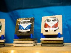 VW bus tiles by Wendy Johnson, West Coasters (marketkim) Tags: holidaymarket stockingstuffers product soeug eugene oregon saturdaymarket festival artfair eugenesaturdaymarket artfestival