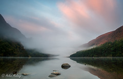 Glendalough 22 October 16 2 (Helen Mulvey) Tags: glendalough wicklow ireland upper lake sunrise water dawn nikon d5100 mist fog eerie landscape photo stacking reflection outdoor