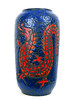 Scheurich Dragon Vase (altfelix11) Tags: pottery artpottery ceramics artceramics westgermanpottery westgermanceramics wgp scheurich vase floorvase dragon blue red collectible collectable