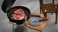 Wintergrillen mit Blender 2.78a #b3d (BlenderPete) Tags: grill steak tbone blender b3d