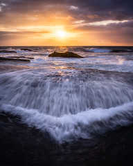 Turimetta Head (garethcoggan) Tags: sony canon seascape sea sunrise sunset sky clouds sydney beach rocks australia new south wales water waterfall coast coastal longexposure long light twilight dark bright hike travel shore waves wave landscape lines colour color
