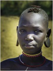 Mursi Tribe Girl (Luc V. de Zeeuw) Tags: color ethiopia girl mun mursi necklace omo omovalley tribe woman southernnationsnationalitiesandpeoplesregion