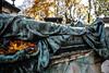 (C-47 [Offline]) Tags: canon 400d 18200mm tomb death cemetary sad autumn colors grave blue yellow bokeh dof morne triste composition original brilliant