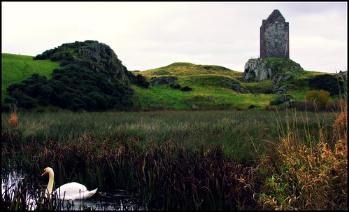 Across the Lochan to Smailholm tower.