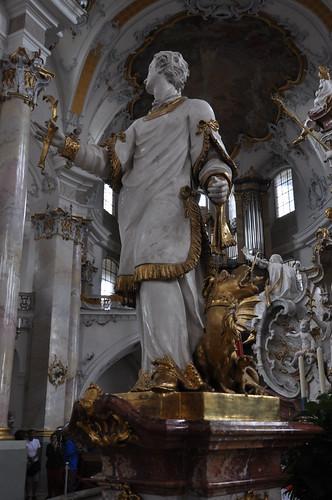 Staffelstein (Alemania). Basilica Vierzehnheiligen. Templete de los 14 Santos. Santo