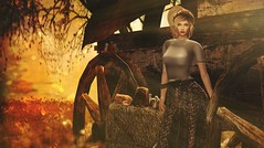 The open trail that leads to a new frontier (Alexa M.) Tags: {reverie} fameshed prtty maitreya atelierpepe catwa pinkacid thechapterfour theepiphany jian envisagelimitless cheekypea alirium happymood secondlife autumn fall decor wagon fashion outdoors female girl