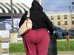 IMG_4601 (kennethkonica) Tags: canonpowershot canon global random hoosiers outdoor talking candid street streetphotography marioncounty midwest america usa indiana indianapolis indy hat fat overweight curvy purple plussize booty butt weather cold purse bag people bbw black bestshotoftheday hoody