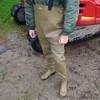 Chameau-oliv-Baustelle2845 (Kanalgummi) Tags: sewer worker rubber waders chestwaders wathose bomber jacket bomberjacke égoutier kanalarbeiter