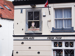 Sergeant Wilson (mark.griffin52) Tags: johnlemeseurier olympusem5 england norfolk sheringham thelobster sgtwilson dadsarmy streetart mural pub