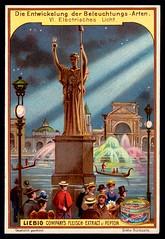 Liebig Tradecard S591 - Electric Light (cigcardpix) Tags: tradecards advertising ephemera vintage chromo liebig