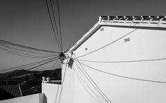 spiderweb manmade (FraVal Imaging) Tags: cómpeta spain flickr puebloblanco street espana andalusien competa andalucia bw blackandwhite spanien axarquia