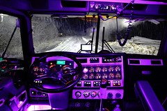 View (jr-transport) Tags: kenworth w900 w900l dash interior custom purple led lights chrome vip