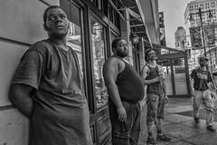 Broad Street, 2016 (Alan Barr) Tags: philadelphia 2016 broadstreet street sp streetphotography streetphoto blackandwhite bw blackwhite mono monochrome candid people group ricoh gr