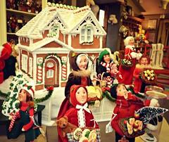 Merry Christmas! (di_the_huntress) Tags: picmonkey display christmas hanovertownship dundeegardens gingerbreadhouse carollers