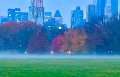 Early morning fog rising Central Park (dannydalypix) Tags: manhattan autumninnewyork newyorkinfall centralpark nyc foggy fog