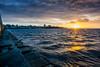 Sunrise at Ogden Point (C McCann) Tags: ogden point breakwater victoria bc britishcolumbia canada vancouverisland west coast pacific ocean sea sky clouds sun
