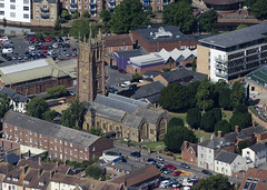 Church of St James in Taunton - aerial image (John D F) Tags: church churches aerial aerialphotography aerialimage aerialphotograph aerialimagesuk aerialview droneview britainfromabove britainfromtheair taunton somerset