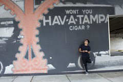 downtown tampa (Andyz33) Tags: mural paiting havana tampa cigars downtown downtowntampa sony alpha a6300 man polo nike addidas