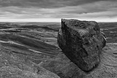 Gritstone Tor (l4ts) Tags: landscape derbyshire peakdistrict darkpeak stanageedge derwentvalley overowlertor moorland gritstone gritstoneedge gritstonetor blackwhite