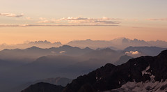 Early morning from the Mullerhutte, Stubai Alps, Austria (Explored 5 December 2016) (Miche & Jon Rousell) Tags: stubai stubital alps austria austrianalps tyrol mairspitze wilderfreiger botzel wilderpfaff zuckerhutl mullerhutte glacier sunrise pink