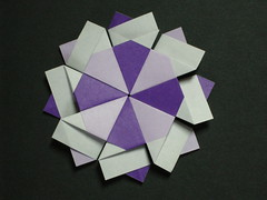 8-pointed star from silver rectangles (Mlisande*) Tags: origami star mlisande modular