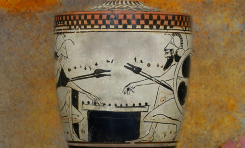 "Petteia - Ludus Latrunculorum  / Iconografía de las civilizaciones helenolatinas • <a style=""font-size:0.8em;"" href=""http://www.flickr.com/photos/30735181@N00/32143106300/"" target=""_blank"">View on Flickr</a>"