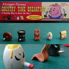 """Frank Kozik x Kidrobot """"Mongers Breakfast"""" 5-pack. Featuring Stale Donut, Bitter Coffee, Angry Smorkin' Bacon, Crack'd Egg, and Jelly-Shot Toast. Online & in the gallery for £15, making it one of the cheaper breakfast options in the northern quarter! #koz (richard goodall gallery) Tags: coffee breakfast frank one for bacon gallery toast egg it x kidrobot donut angry online quarter urbanvinyl northern making kozik bitter stale mongers smorkin cheaper options featuring crackd 5pack £15 jellyshot mongersbreakfast"""