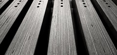 Table legs. (Ro Rebbel) Tags: wood blackandwhite lines table legs symmetry holes birch