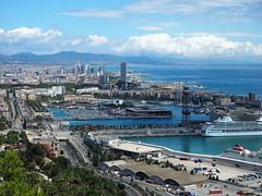 Barcelona des del Camí del Mar a Montjuïc