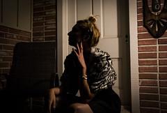 Elegant Angel (Jozef Arthur) Tags: california street light summer portrait people hot color sexy classic girl fashion santabarbara lady female night canon fur gold model lowlight noir photoshoot vibrant stripes coat jewelry headshot chic elegant seductive classy 60d eoshe prch