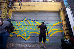 Today (jkoshi) Tags: sanfrancisco art graffiti mural artist lilac vandalism writer spraypaint missiondistrict piece process koshi jkoshi meetingofstyles meetingofstyles2015 meetingofstylessf