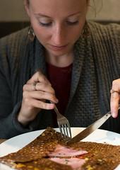 galette galette! (akrischker.com) Tags: paris lunch restaurant cafe pancake savoury mittag galette pfannkuchen herzhaft