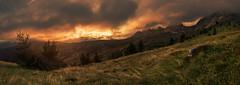 Dolomiten - Cinque Torri Sunset Panorama (030mm-photography) Tags: travel italien sunset italy panorama mountains alps nature clouds landscape tirol italia sonnenuntergang hiking natur himmel wolken berge alpen landschaft wandern dolomites dolomiti reise südtirol wanderung dolomiten alpenglühen cinquetorri cortinad'ampezzo