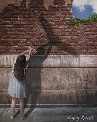 One Day I'll Fly Away (Hayley Roberts Photography) Tags: shadow urban bird composite photoshop freedom shadows fineart manipulation howto trickphotography tutorial lighteffects compositing dropshadow conceptualphotography layerstyle learnphotography