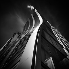 @Ginza, Tokyo (Masahiko Kuroki (a.k.a miyabean)) Tags: bw architecture square noiretblanc 銀座 iphone iphone6plus